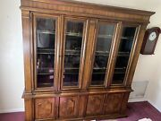 Exquisite Lighted China Closet 2 Peice By Drexel Heritage