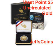 2019 W Apollo 11 50th Anniversary Uncirculated 5 Gold Coin 19cb West Point Mint