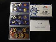 2008 S Us Mint Proof Coin Set Presidential Dollars State Quarter Cents Dime
