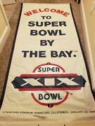 Super Bowl Xix - 49ers - Welcome To Super Bowl By The Bay Street Light Banner