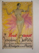 Josephine Baker Stone Lithographic Hand Printed Movie Poster