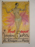 Josephine Baker Stone Lithographic Hand Printed Movie Poster,