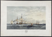 Brierly - Fleet Entering The Great Belt. 1 1855 Fleets Hand-colored Lithograph