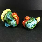 Turkeys Salt And Pepper Shakers Male And Female Vintage Made In Occupied Japan