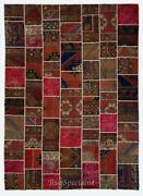 Handmade Patchwork Rug Natural And Undyed Authentic Vintage Carpet