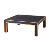 Faux Bamboo Square Cocktail Table