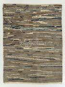 Contemporary Tulu Rug In Gray Blue And Brown Colors