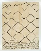 Contemporary Moroccan Berber Rug 100 Natural Undyed Wool. Custom Options