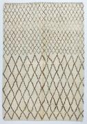 Contemporary Moroccan Rug Made Of Natural Wool