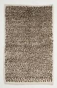 Contemporary Tulu Rug 100 Natural Un-dyed Wool. Cream And Brown