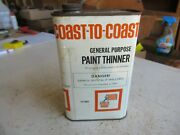 Vintage Empty Quart Coast To Coast Paint Thinner Oil Can Lot 21-34-2a