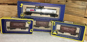 Vintage Ahm Ho Lot Of 4-3 Southern Pacific 1408 Ore Cars And 1 Thermice 5297 Nib