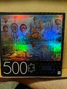 Mb Puzzle 500 Piece Jigsaw Foil - Fantasy Panorama - 24x18 New Sealed