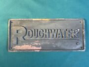 Vintage Roughwater Andldquorough Water Boats Cast Iron Boat Emblem Badge Sign Plaque