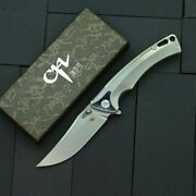 Clip Point Folding Knife Pocket Hunting Tactical S35vn Blade Titanium Handle Edc