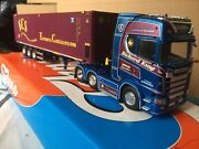 Tekno Scania Richard King With Skelly Trailer And Container