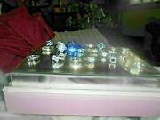 Mixed Set Of 24 Rings Mixed Stones Not Real Apart From The Spinal One Sizes R/s