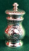 Unusual Victorian Silver Pepper Grinder London 1900 By Carrington And Co
