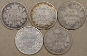 Canada 1896,98bent,99,1900,+ 01 Ten Cents Low Grades As Pictured
