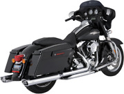 Vance And Hines Chrome Duals Motorcycle Headpipes 09-16 Harley Touring Flhx Flhr