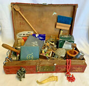 Excellent Premium Ladies Junk Drawer Lot Statuettes Coral Watch Coins Jewelry