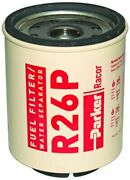 Racor R26p Fuel Filter/water Separator Element 45gpm 30 Microm For 335r