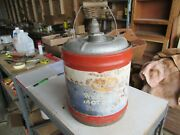 Vintage 5 Gallon Worthmore Oil Can Only 1 On Ebay Lot 21-35-5