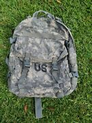 Us Army Usgi Acu Molle Ii 3 Day Assault Pack Backpack With Stiffener And Free Gear