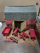 Great Condition Vintage International Deluxe Farm And Barn Set- Extremely Rare