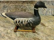 Large High Head Pacific Black Brant Wooden Decoy Signed Robert Capriola 1988 17