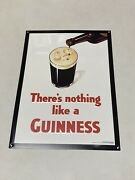 There's Nothing Like A Guinness Embossed Metal Sign Tin Tacker 14 X 19