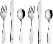 Childrenand039s Flatware 6 Pieces Set - Stainless Steel Cutlery/silverware 2 X Childr