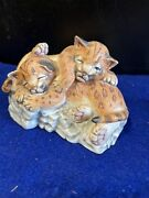 Lenox Nature's Young Played Out Tigers Figurine 1988 - Porcelain