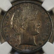 1892-o Barber Half Dollar 50c Ngc Certified Au53 Richly Toned Coin With Luster