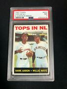 Willie Mays And Hank Aaron 1964 Topps 423 Tops In Nl Psa 7 Nm