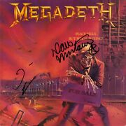 Megadeth Peace Sells But Whoand039s Buying Vinyl Lp Dave Mustaine +1 Autograph Signed