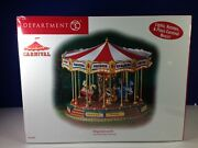 Dept 56 Snow Village Carnival The Red Ruby Carousel 56.53801 Brand New And Sealed
