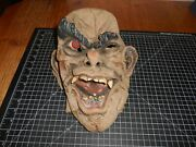 Rare Vintage 90s Latex Full Face Scary Halloween Ugly Big Eyebrow Monster Mask
