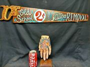 Tattoo Hand With Saw Removal Sign,museum Display, Sideshow Gaff,freak,oddity,👀