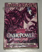 1995 Marvel Over Power Game Lethal Allies 55 Colectible Playing Cards Sealed