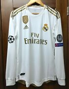 Real Madrid 2019-2020 Eden Hazard Ucl Player Issue Climachill Home Jersey