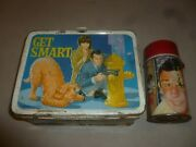 Vintage 1966 Get Smart Lunch Box W Thermos Metal King Seeley Tv Show Maxwell