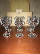 Baccarat Mercure 6 Red Wine Glasses Height 5 5/8 - Width 3 Inch New Box
