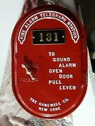 Antique 1920's Oval Gamewell Fire Alarm Telegraph Box. Rare
