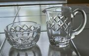 Waterford Cut Crystal Glass Kerry Creamer And Open Sugar Bowl