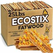 Easygoproducts Approx. 300 Eco-stix Fatwood Fire Starter Kindling Firewood St...