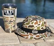 New Yeti2 Items Rambler 30 Oz Tumbler W/ Magslider Lid And Boonie Hat Camo
