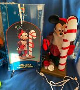 Vintage Santas Best Animated Mickey Mouse Christmas Figure Painting Candy Cane