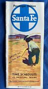 1956 Atchison Topeka And Santa Fe Railway Co Passenger Public Time Table All Route