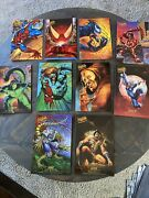 1995 Fleer Ultra Spiderman Ultraprints Complete Set Of 10 Box Toppers 6.5 X 10
